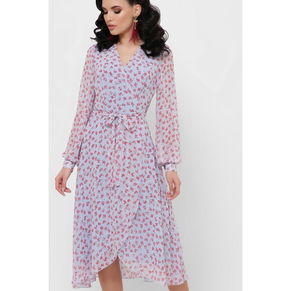 Красивое шифоновое платье с принтом Алеста фото 3