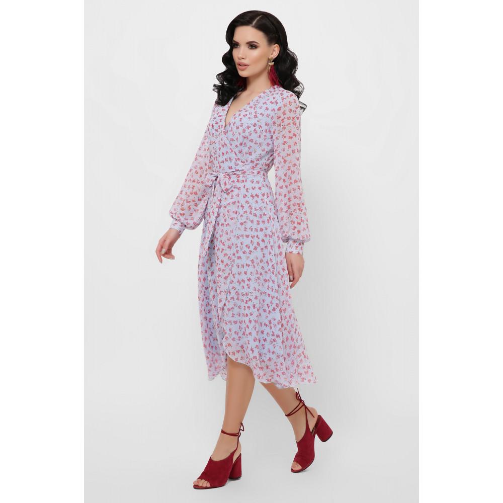 Красивое шифоновое платье с принтом Алеста фото 4