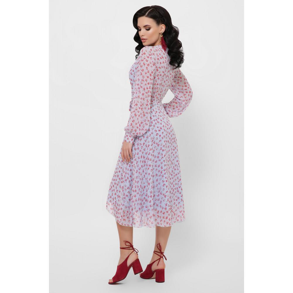 Красивое шифоновое платье с принтом Алеста фото 5
