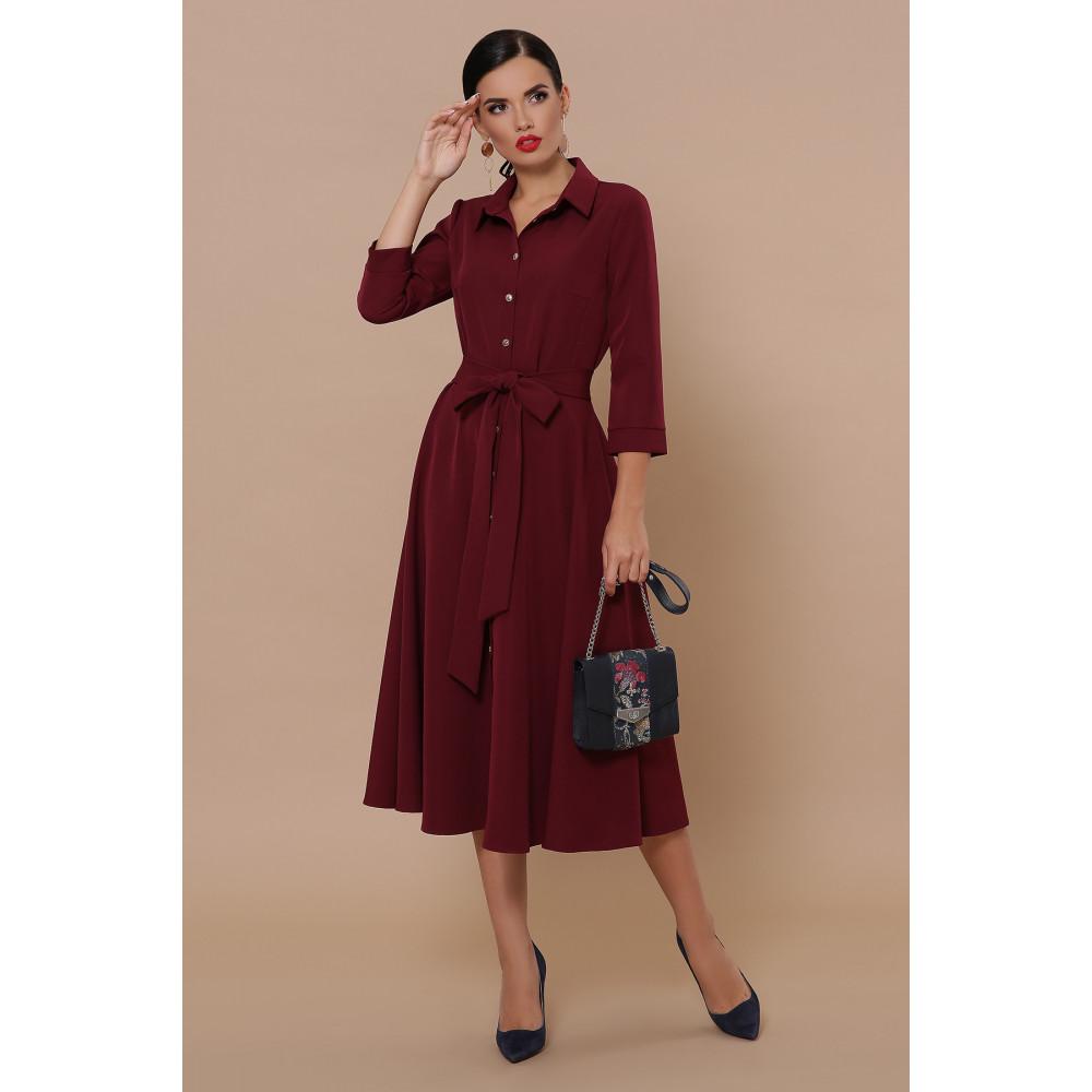 Классическое бордовое платье Ефима фото 1