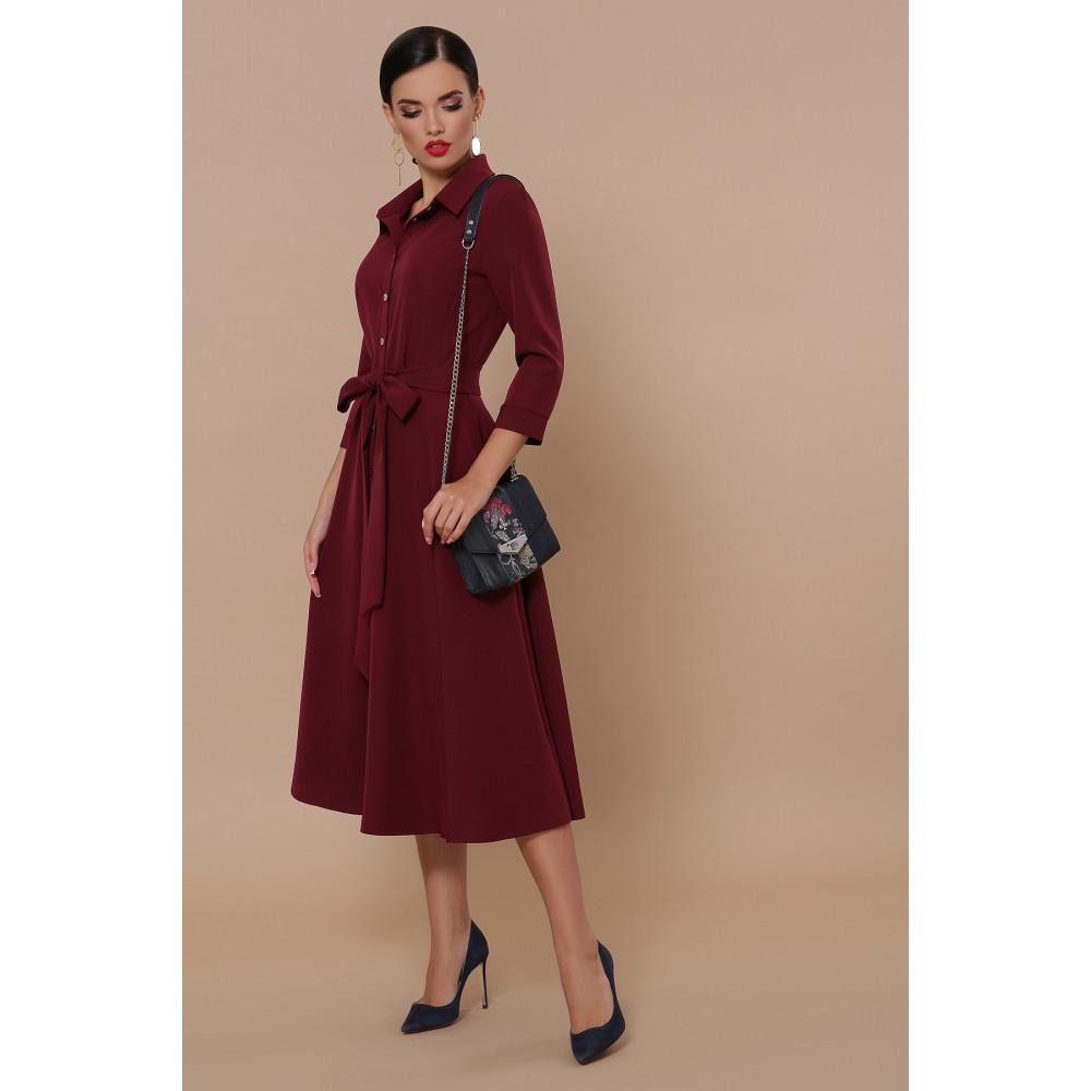 Классическое бордовое платье Ефима фото 2