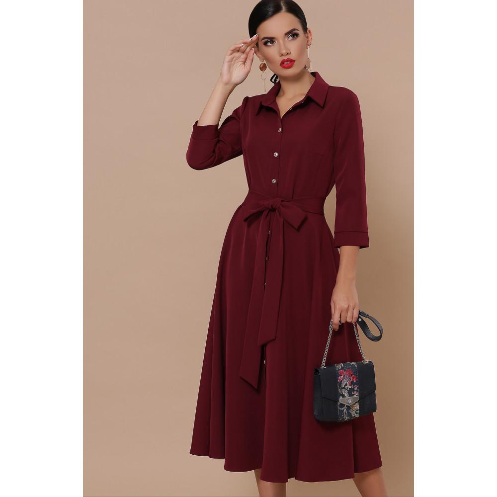 Классическое бордовое платье Ефима фото 3