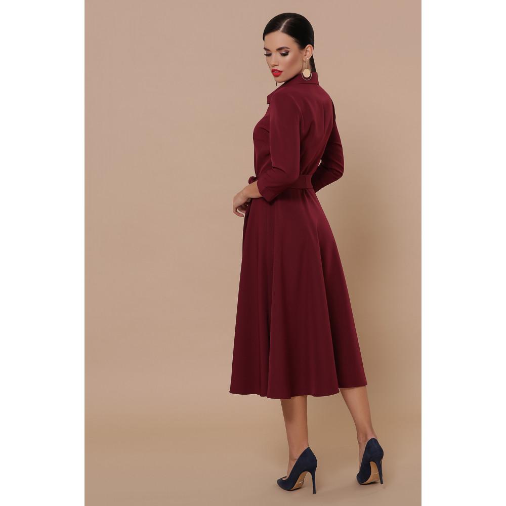 Классическое бордовое платье Ефима фото 4