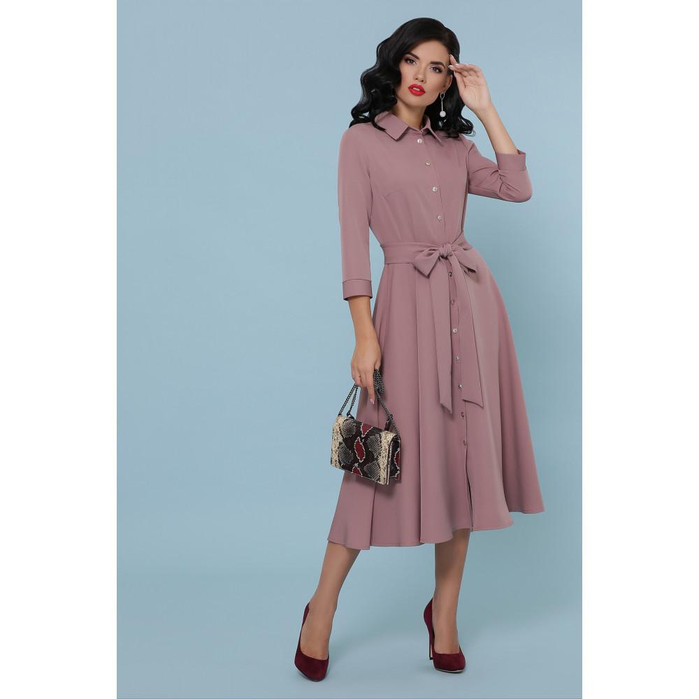 Женственное платье-миди с поясом Ефима фото 1