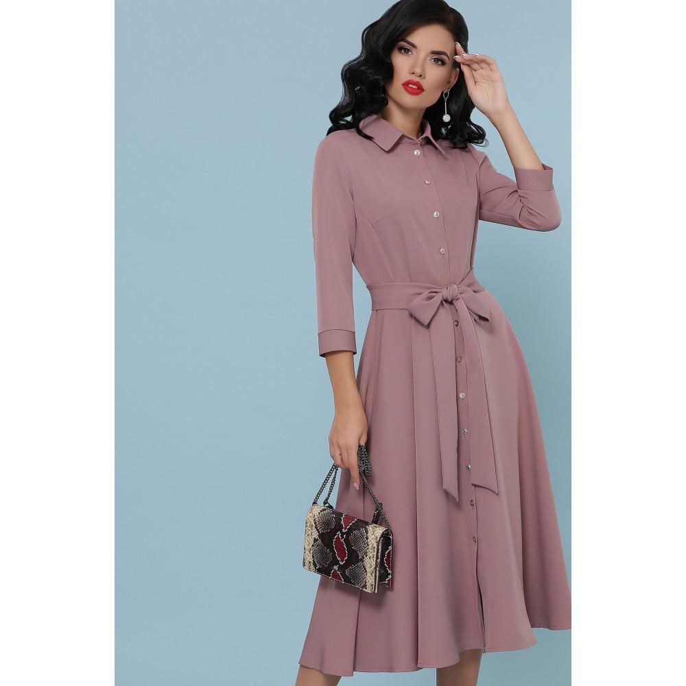 Женственное платье-миди с поясом Ефима фото 3