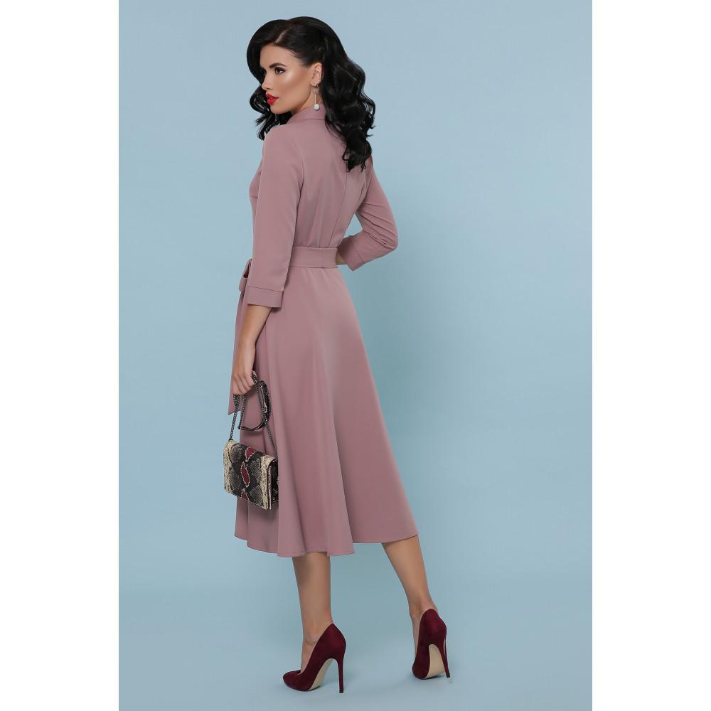 Женственное платье-миди с поясом Ефима фото 4