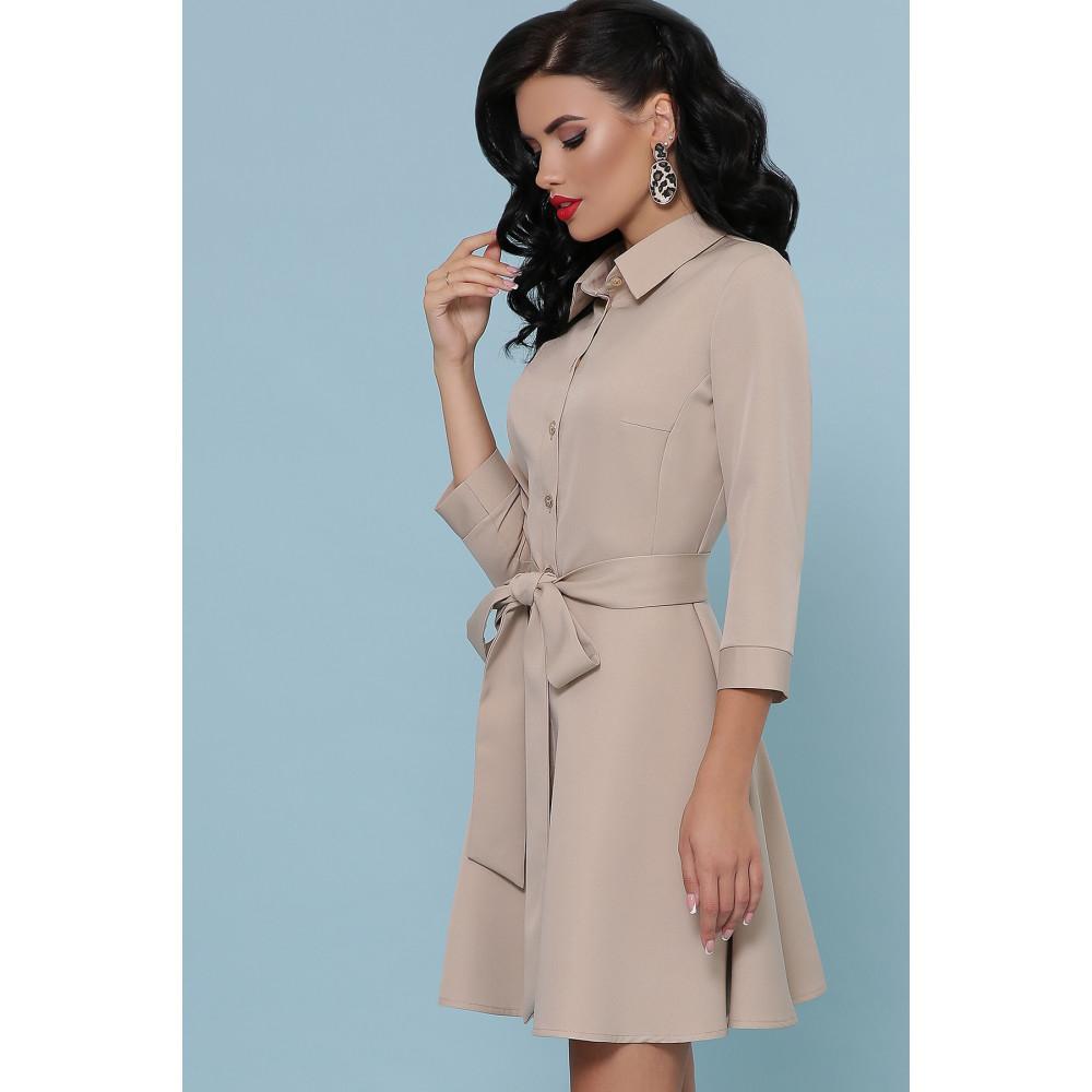 Красивое расклешенное платье-мини Ефима фото 1