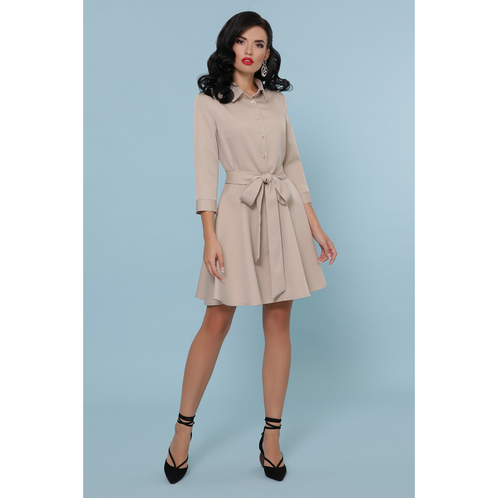 Красивое расклешенное платье-мини Ефима фото 3