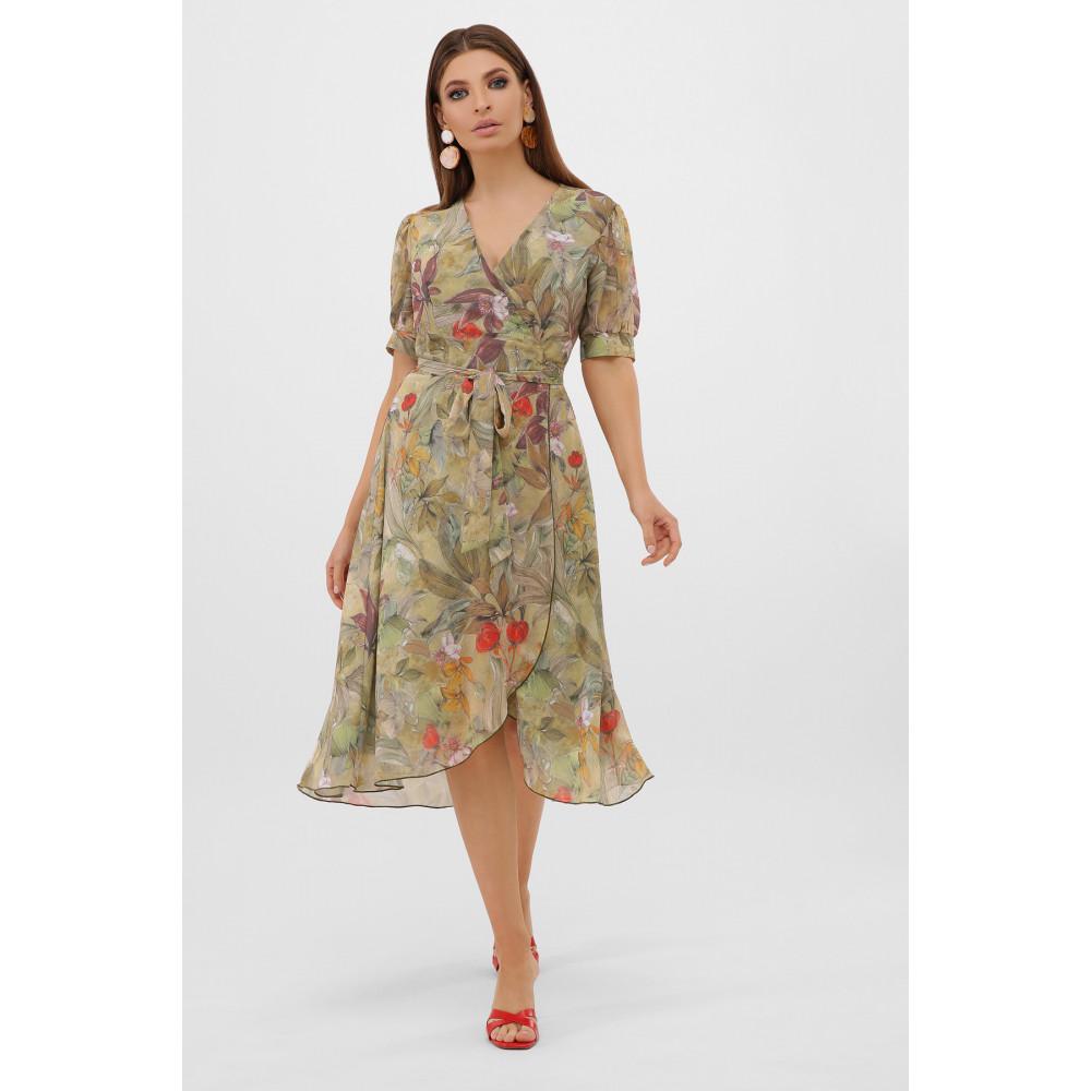 Жіночна оливкова сукня Алеста фото 1