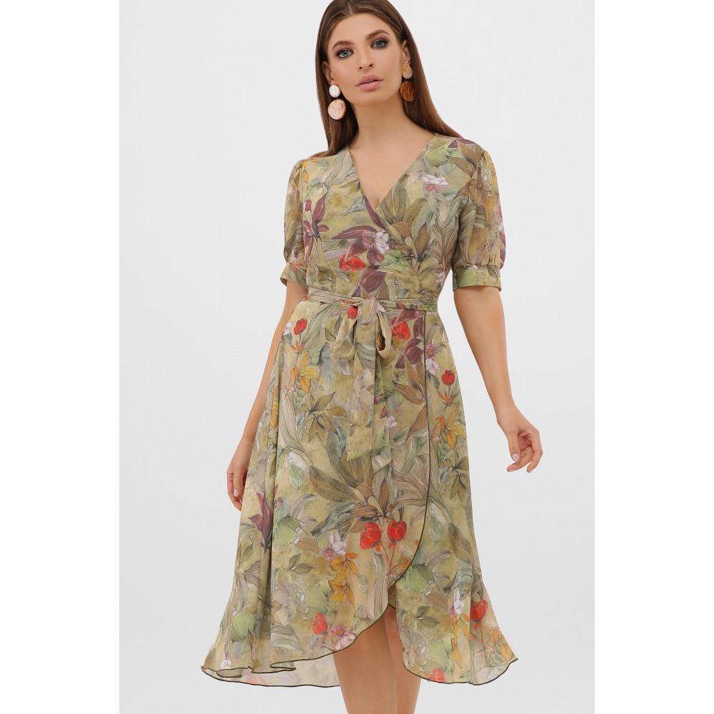 Жіночна оливкова сукня Алеста фото 2
