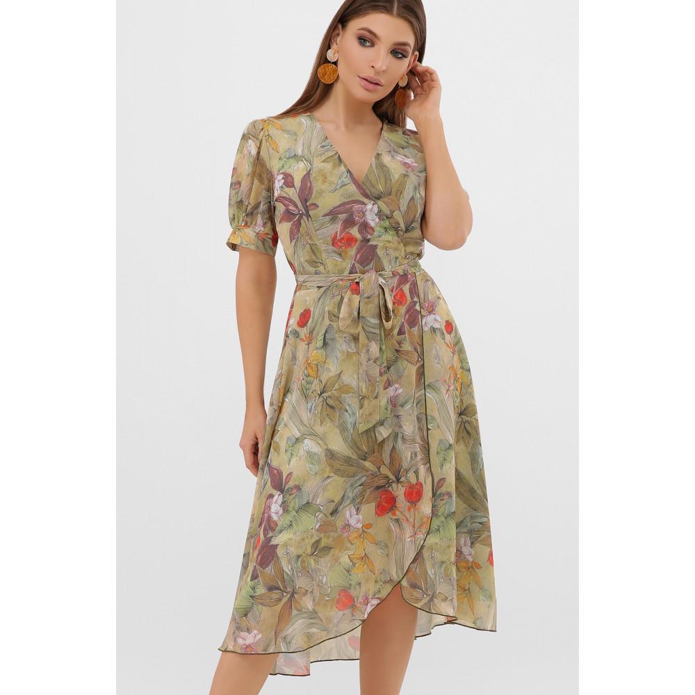 Жіночна оливкова сукня Алеста фото 3