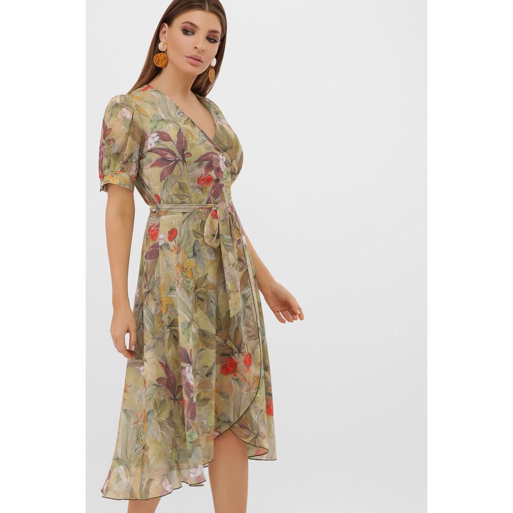 Жіночна оливкова сукня Алеста фото 4