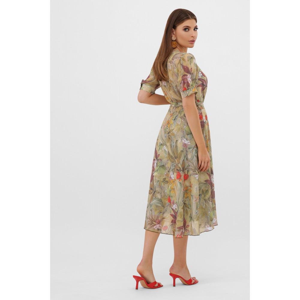 Жіночна оливкова сукня Алеста фото 5