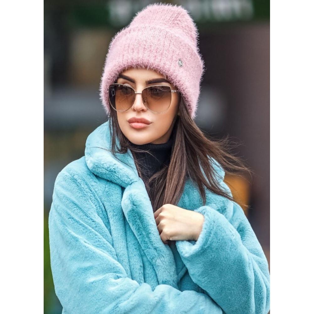 Нежная розовая шапка Зоуи фото 1