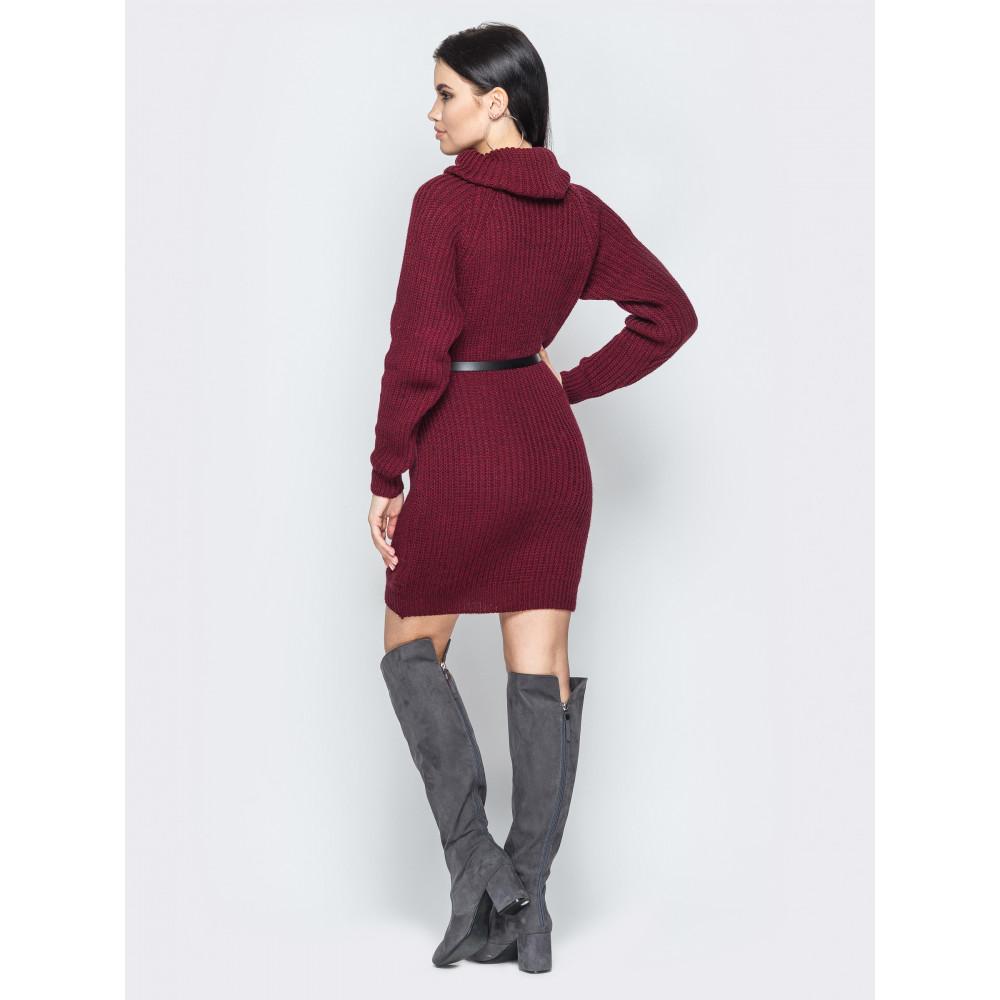 Бордовое вязаное платье вязаное Adel фото 2