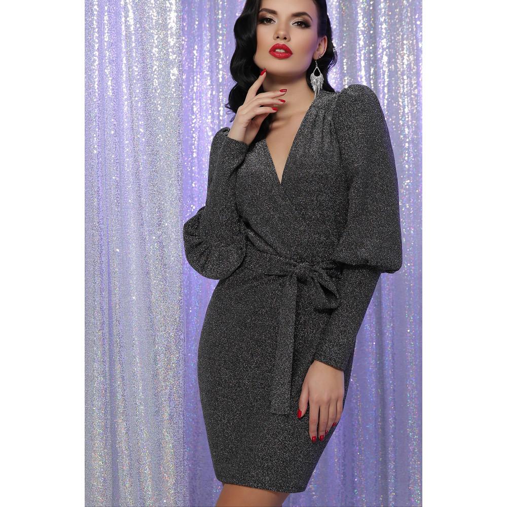 Блестящее платье с обьемными рукавами Зита фото 1