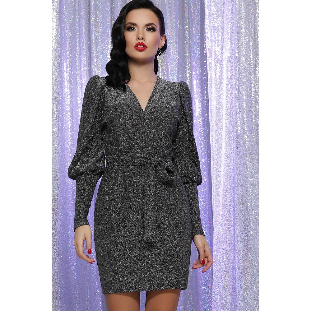 Блестящее платье с обьемными рукавами Зита фото 2
