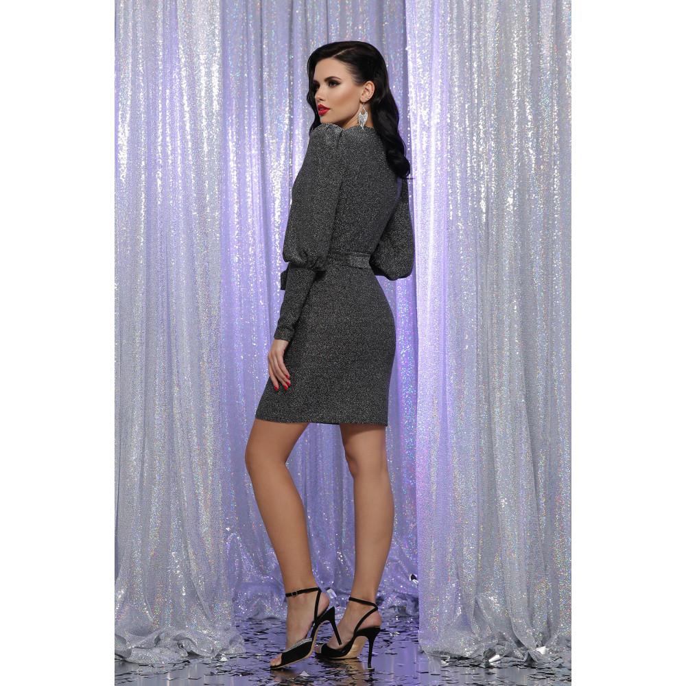 Блестящее платье с обьемными рукавами Зита фото 4