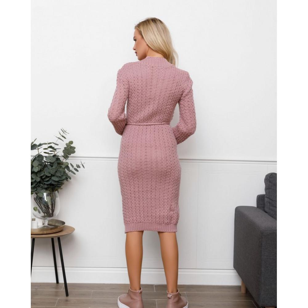 Женственное платье с оригинальным узором фото 2
