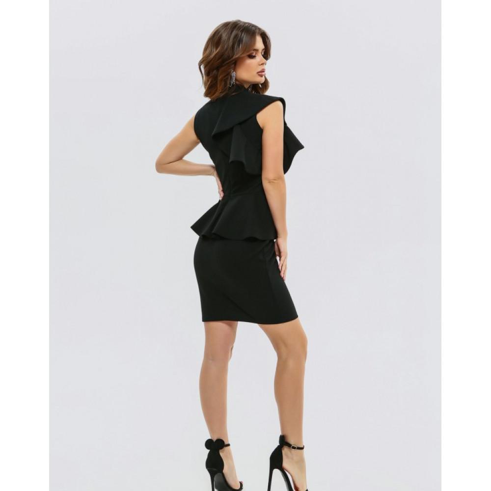 Коктейльное платье-футляр с баской фото 3