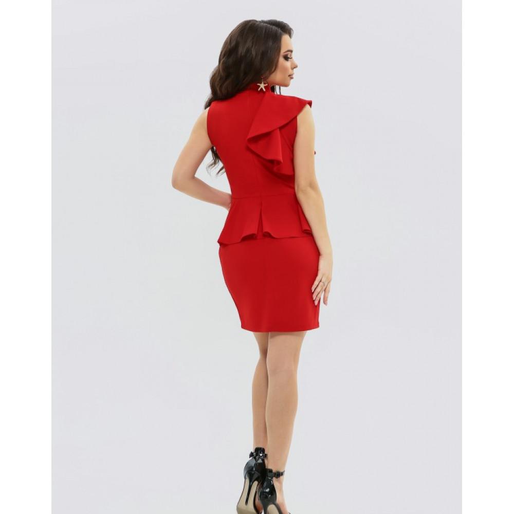 Женственное платье-футляр с баской фото 2