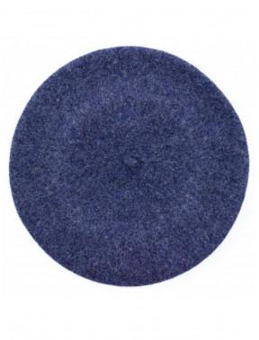 Цікавий синій меланжевий берет Флора-695