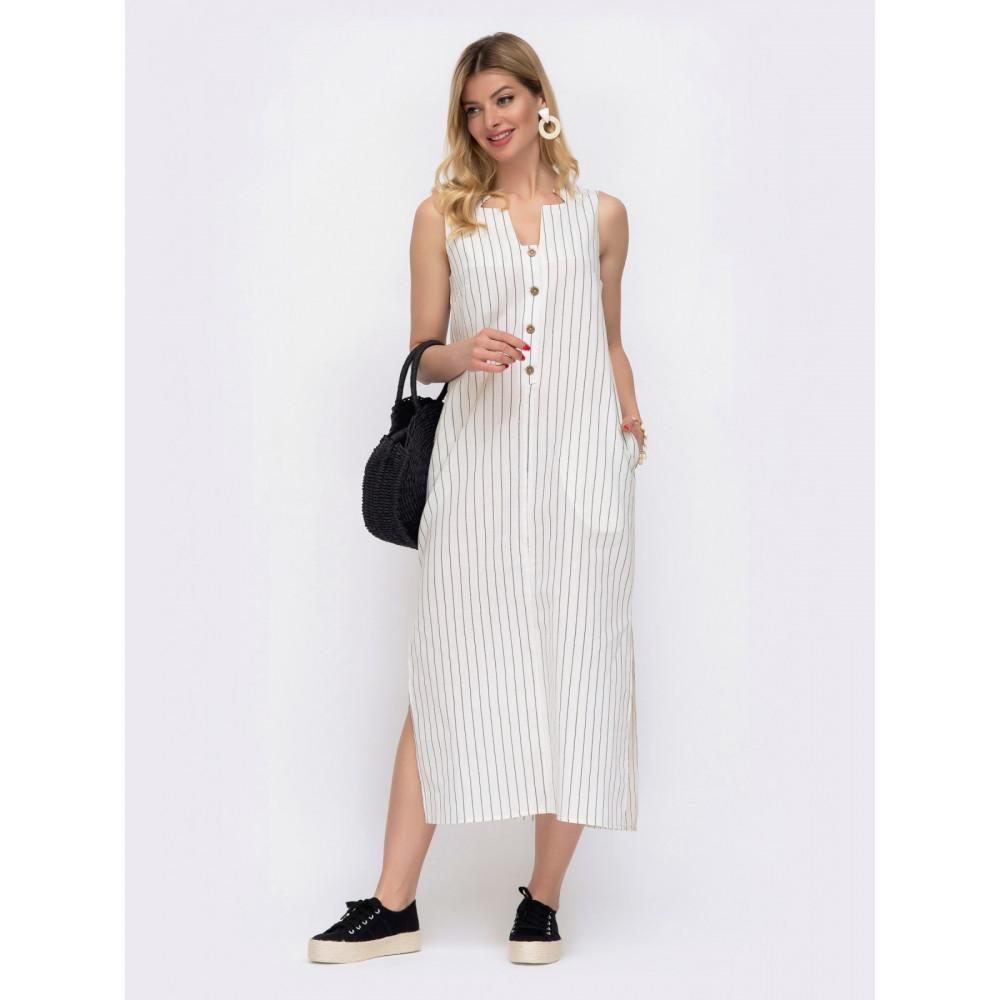 Комфортное платье в контрастную полоску фото 1