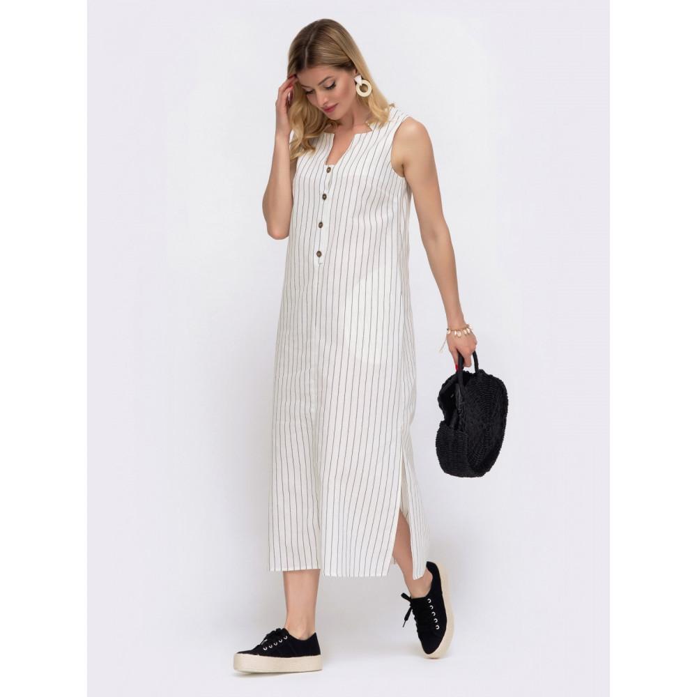 Комфортное платье в контрастную полоску фото 2