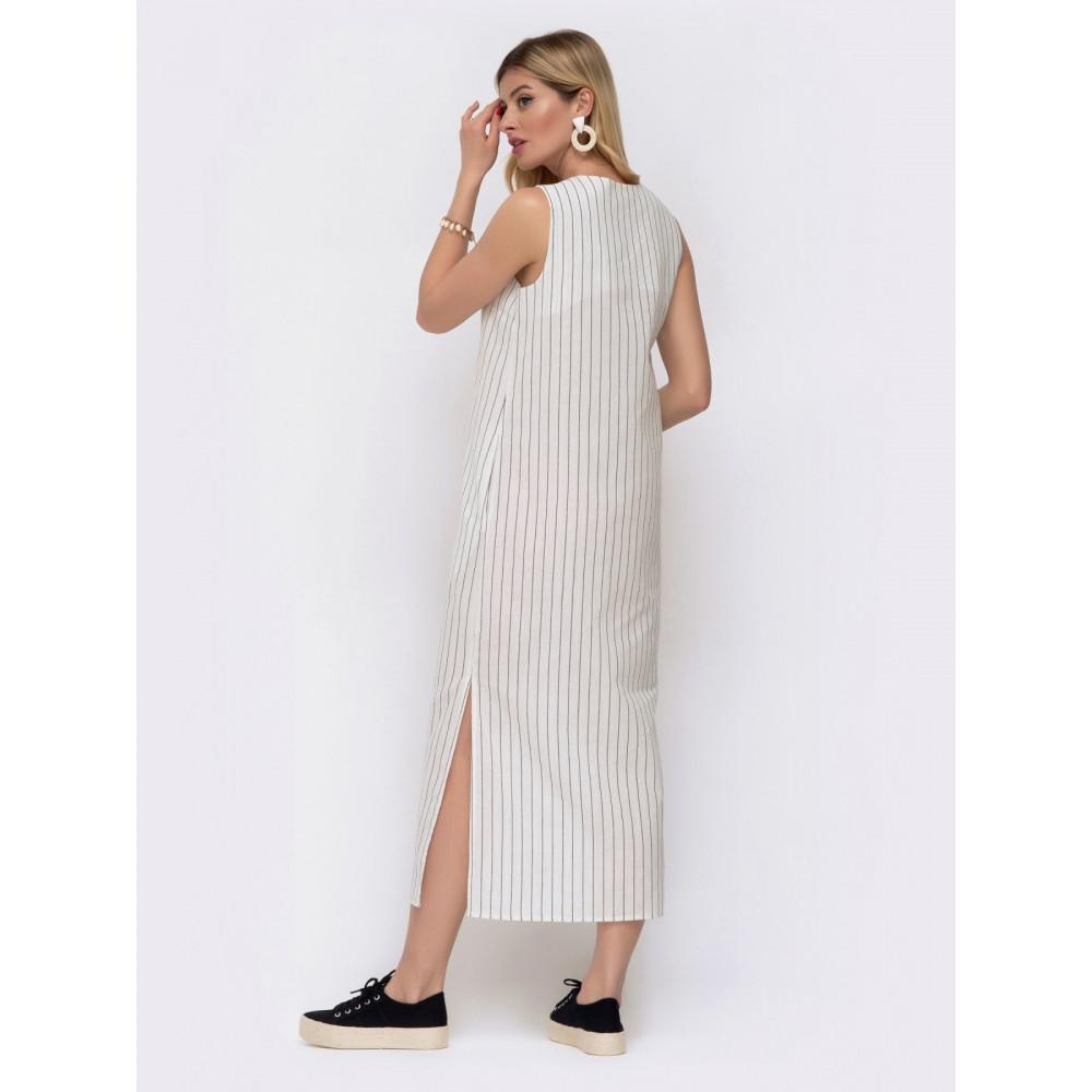 Комфортное платье в контрастную полоску фото 3