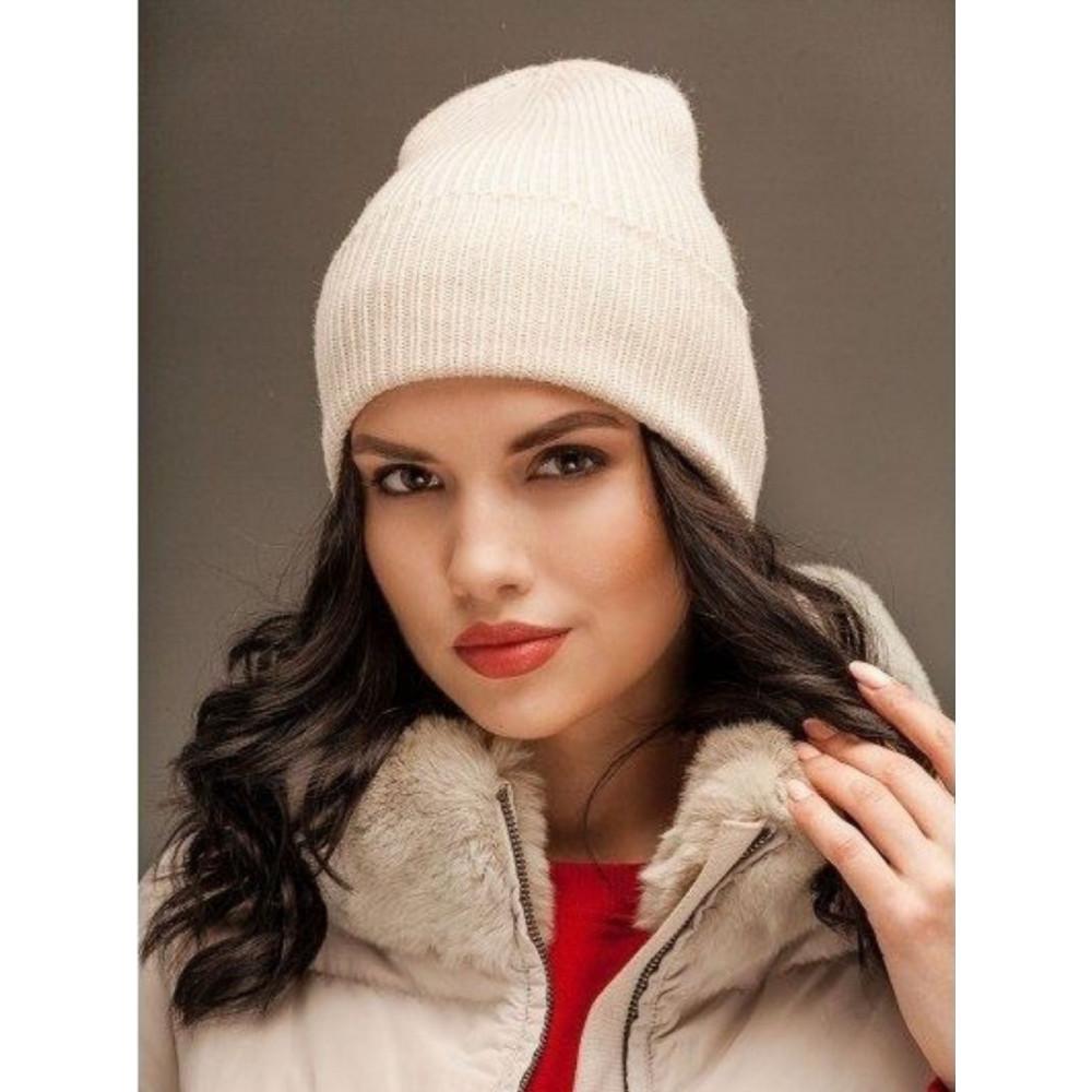 Лаконічна білосніжна шапка Йорк фото 1