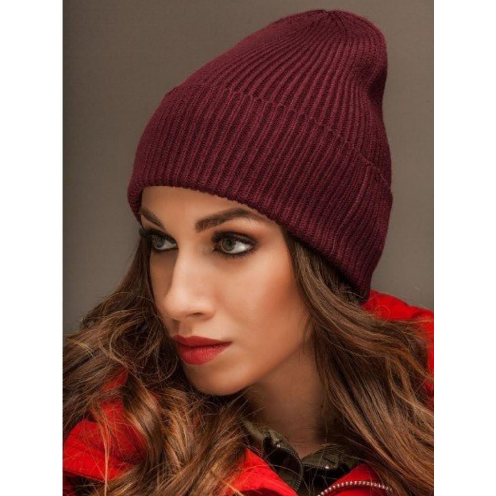 Женская бордовая шапка Йорк фото 1