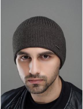 Темно-серая меланжевая шапка Макс