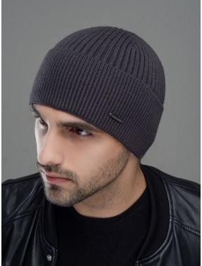 Теплая серая шапка Макс