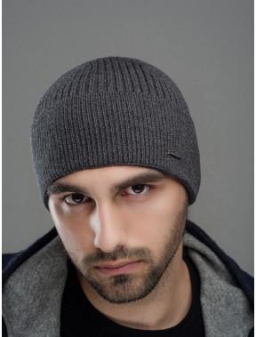 Мужская серая шапка Макс