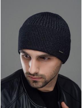 Черная мужская шапка Макс