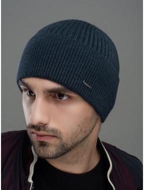 Теплая темная мужская шапка Макс