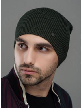 Зеленая мужская шапка Монолит