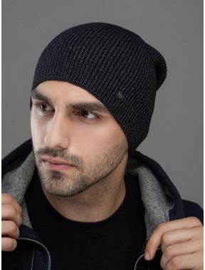 Черная вязаная шапка Монолит