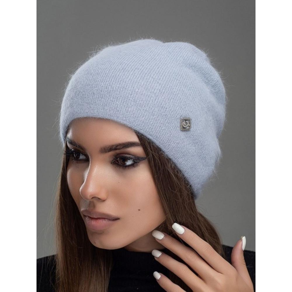 Женственная серая шапка Престиж фото 2