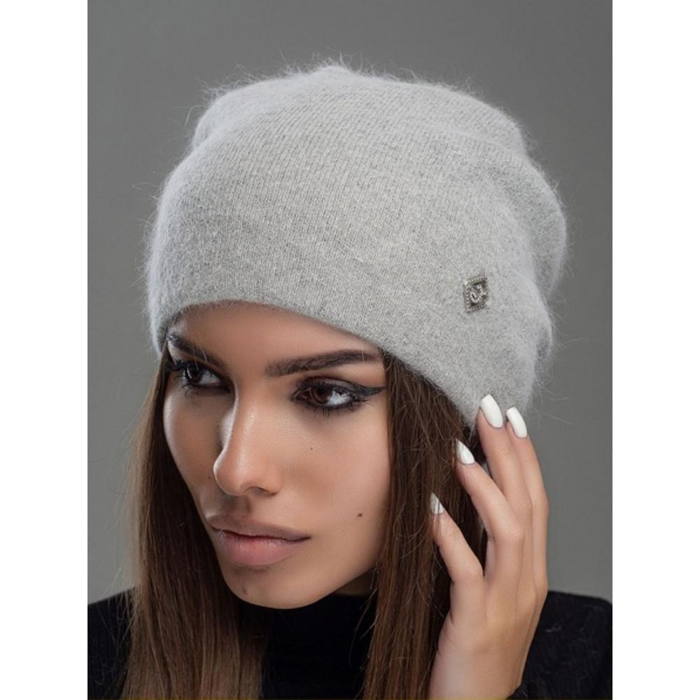 Женственная серая шапка Престиж фото 1