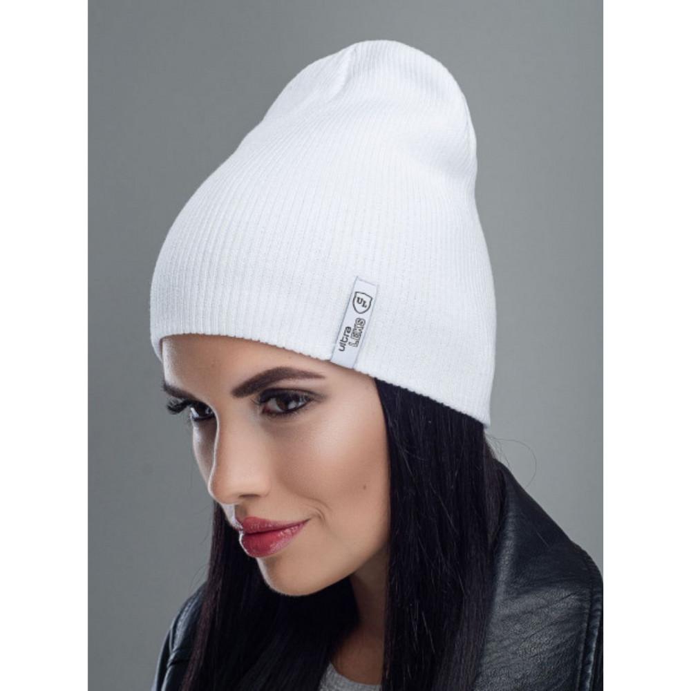 Белоснежная хлопковая шапка Риана  фото 1