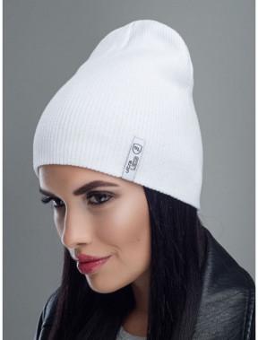 Белоснежная хлопковая шапка Риана