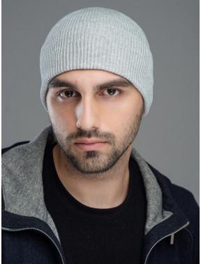 Серая мужская шапка Сопрано
