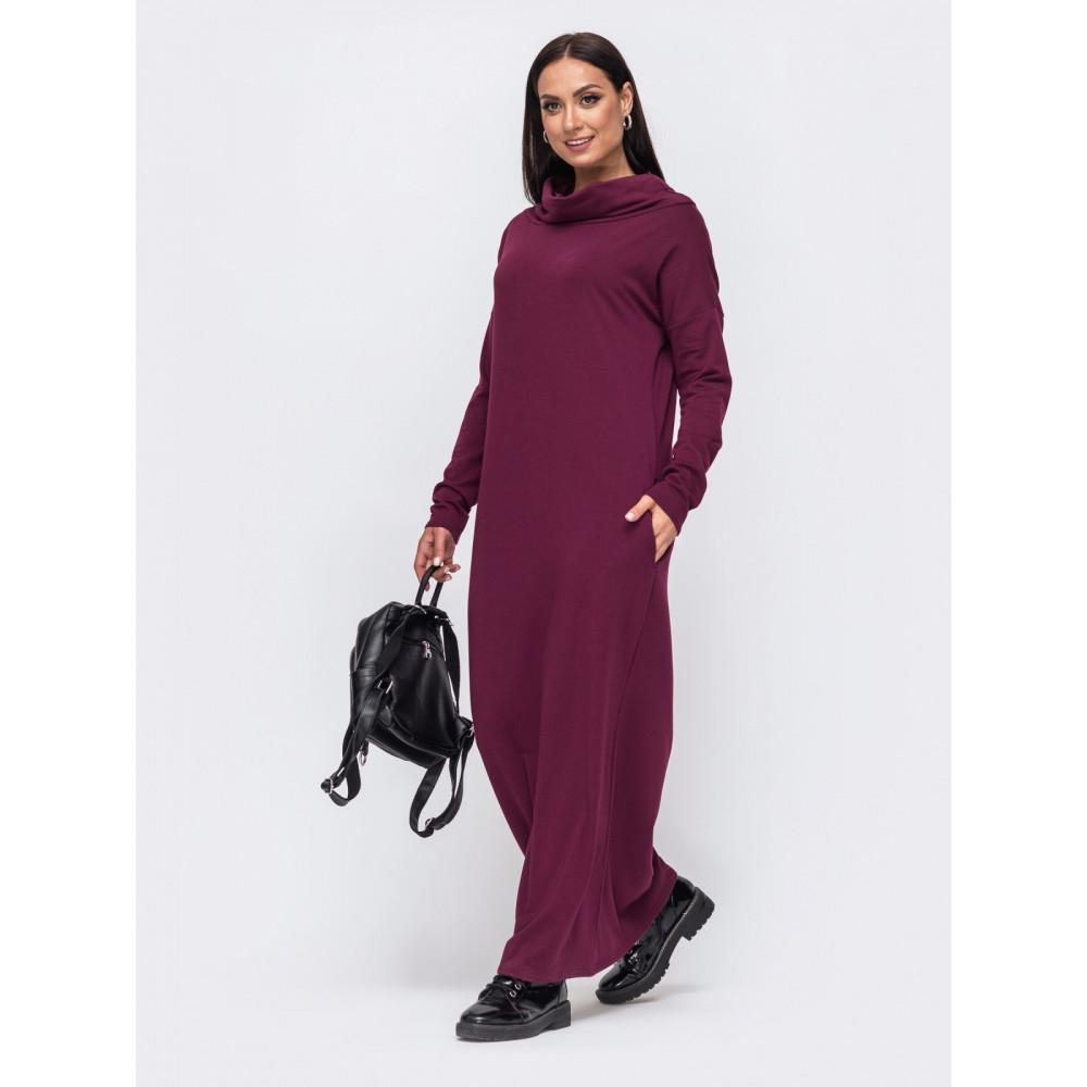 Бордовое уютное платье Forever фото 1