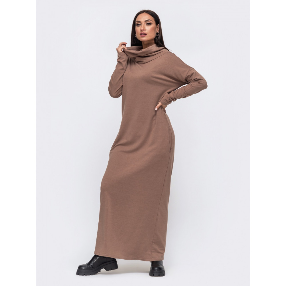 Комфортное платье с воротником-хомутом Forever фото 1