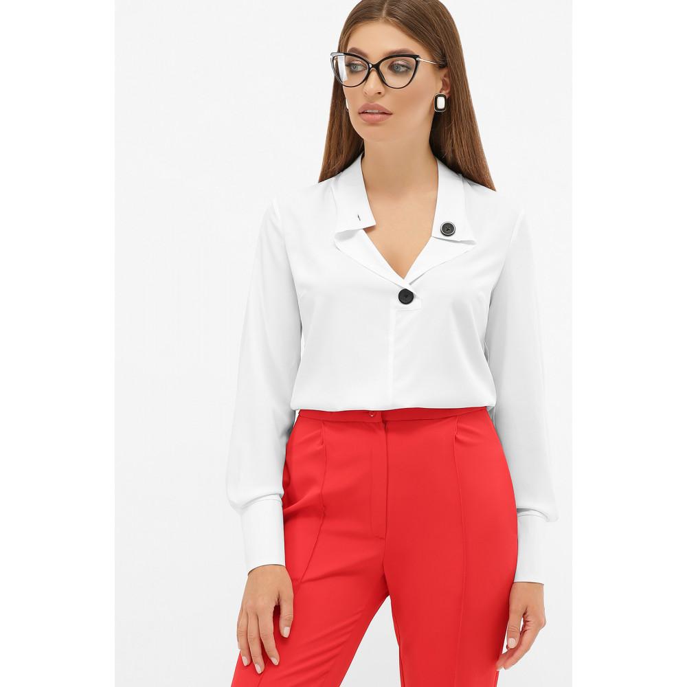 Біла блузка з оригінальним вирізом Фібі фото 2