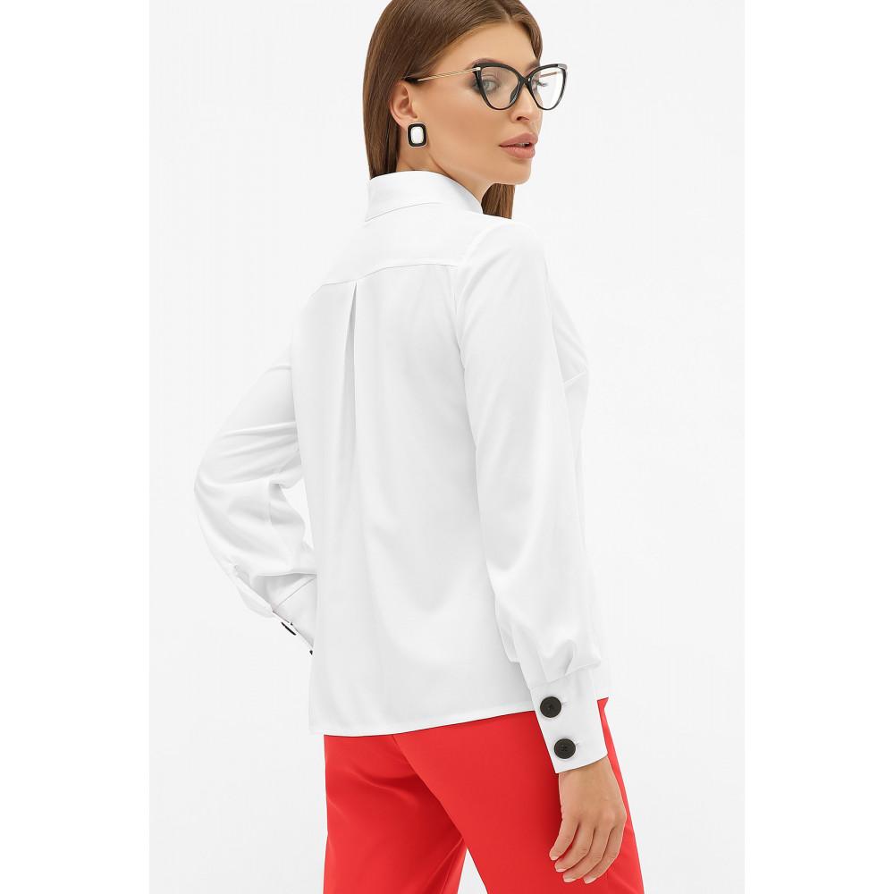 Біла блузка з оригінальним вирізом Фібі фото 3