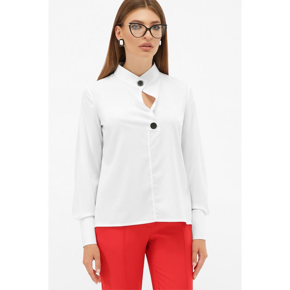 Біла блузка з оригінальним вирізом Фібі фото 1