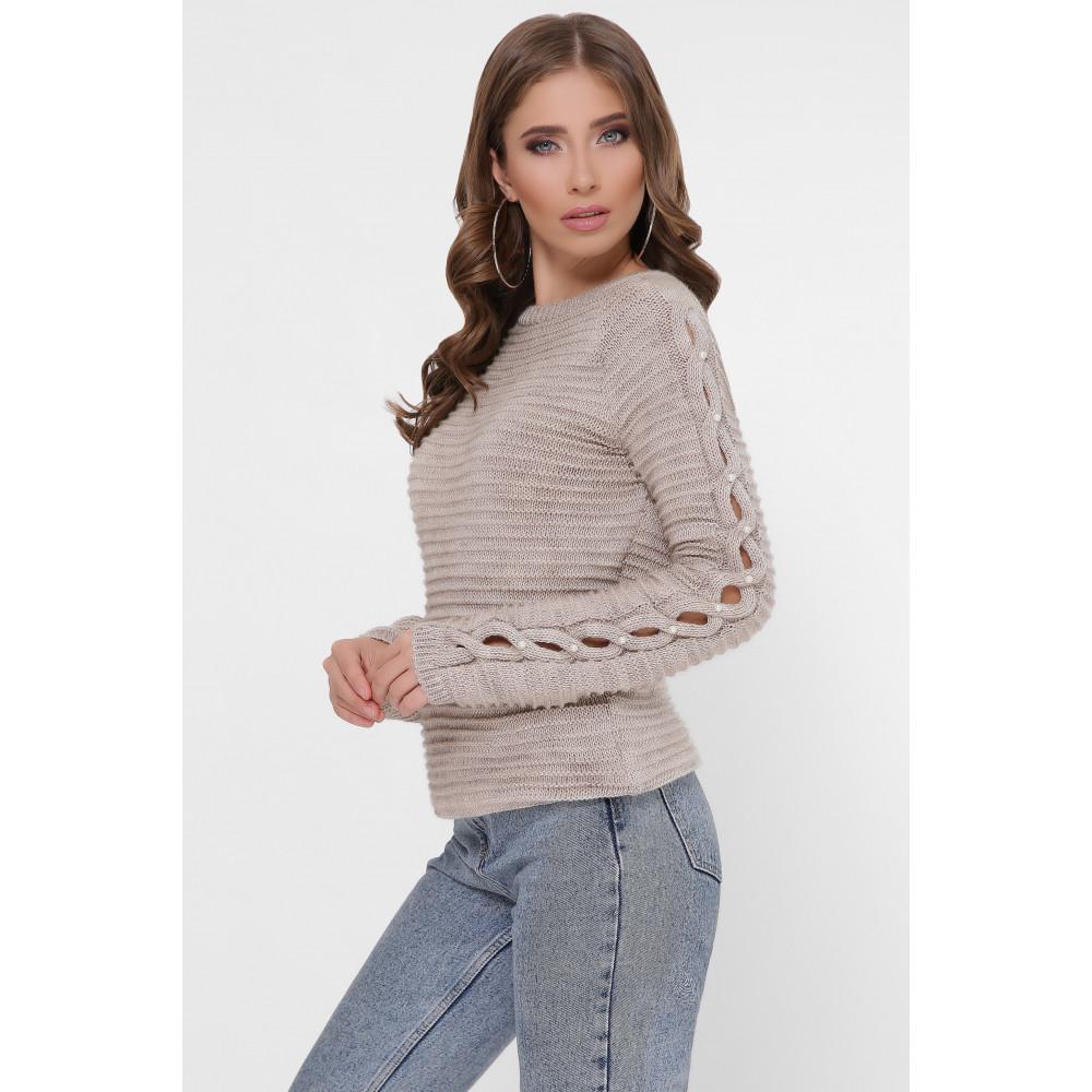Бежевый свитер Даяна фото 1