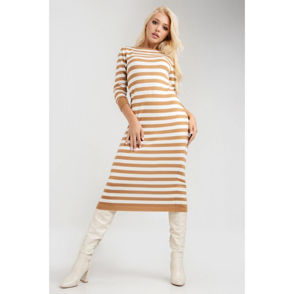 Демисезонное платье-миди в полоску Шелли фото 2